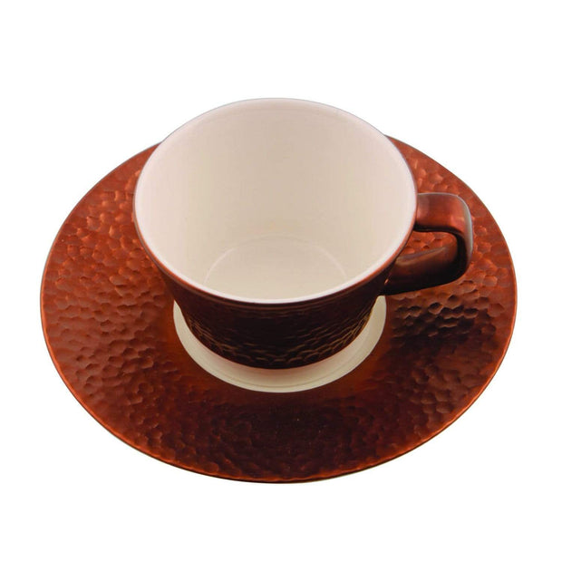Porland Porselen Legacy Copper Coffee Cup and Saucer Set - 80 ml - 04ALM004365 - Jashanmal Home