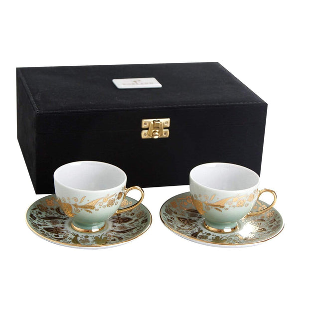 Porland Porselen Vaha Gold Coffee Set - 4 Piece - 04A+P017485 - Jashanmal Home