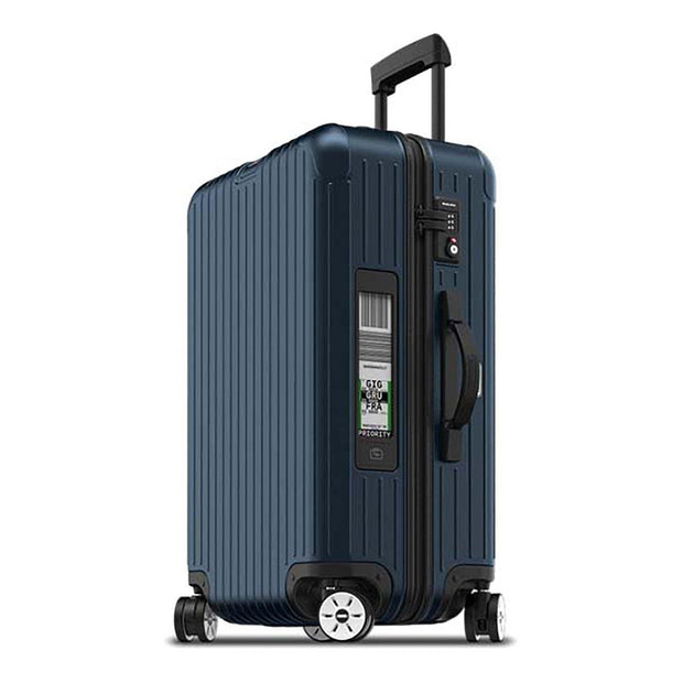 Rimowa Salsa Electronic Tag Luggage Trolley Bag - Matt Blue - 811.63.39.5 BL - Jashanmal Home