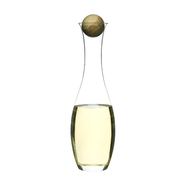 Sagaform Wine and Water Carafe With Oak Stopper - Clear, 1 Litre - SA5015336 - Jashanmal Home