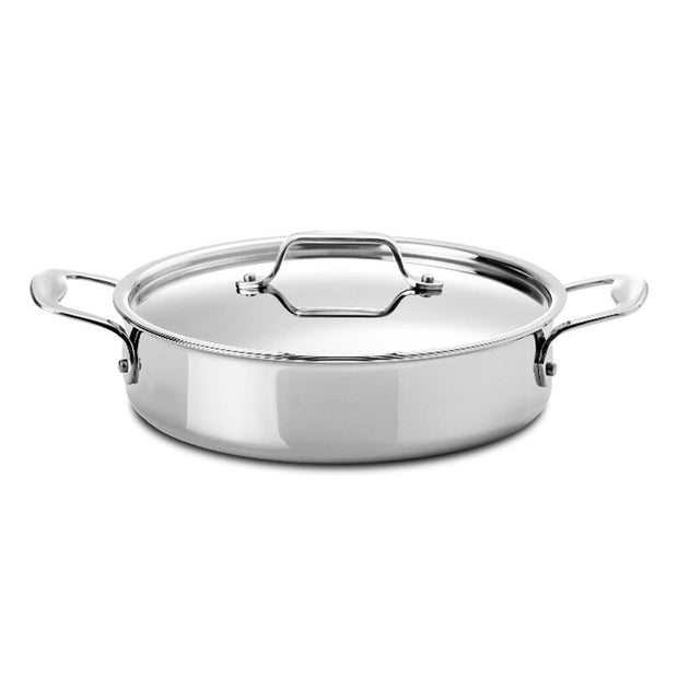 Silampos Supremeprof Low Casserole with Lid - Silver, 24 cm - 639002BG0924 - Jashanmal Home