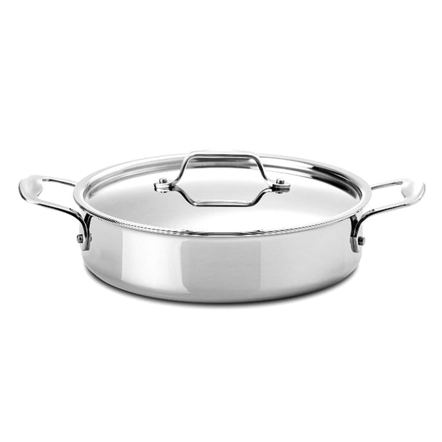 Silampos Supremeprof Low Casserole with Lid - Silver, 26 cm - 639002BG0926 - Jashanmal Home