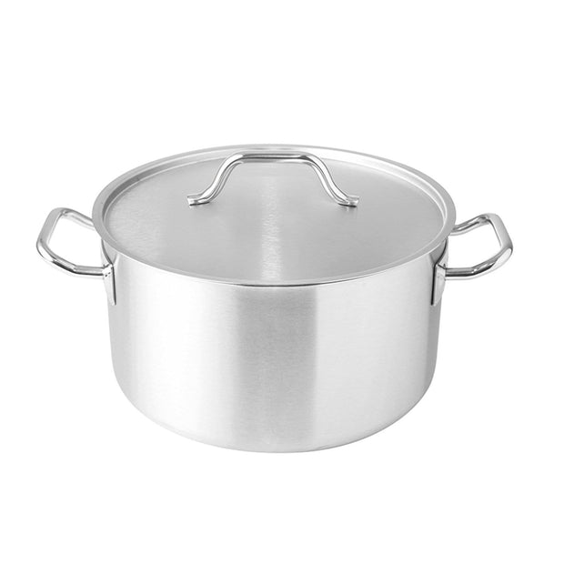 Silampos Deep Casserole with Lid - Silver, 32 cm - 638121BB2932 - Jashanmal Home