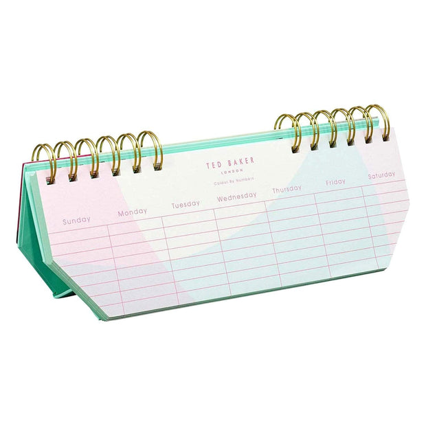 Ted Baker Colour By Numbers Weekly Planner - TED503