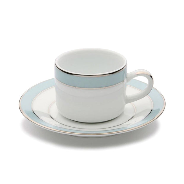 Dankotuwa Bella Coffee Cup and Saucer - White and Blue - BELLAB-92/93 - Jashanmal Home