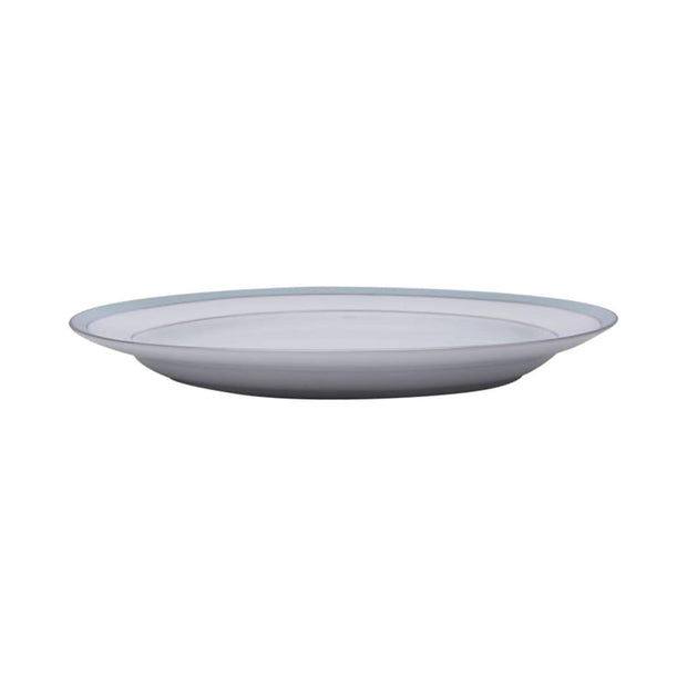 Dankotuwa Bella Platter - White and Blue, 14 Inch - BELLAB-0544 - Jashanmal Home