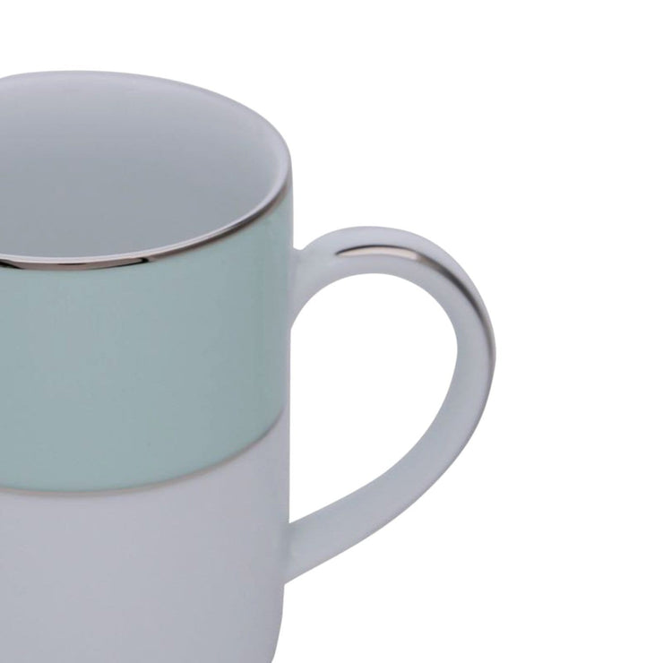 Dankotuwa Meldy Tea Mug - White and Light Green - MELDYG-0688 - Jashanmal Home