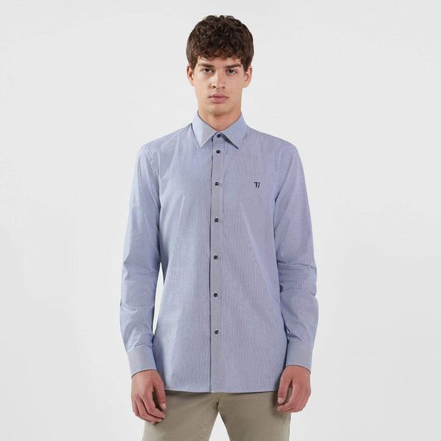 Trussardi Miami Collar Regular Fit Shirt - Blue - 52C00111-U280-40 - Jashanmal Home