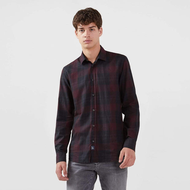 Trussardi French Collar Close Fit Shirt - Bordeaux - 52C00118-R290-42 - Jashanmal Home