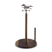Vagabond House Equestrian Horse Weather Vane Free-Standing Paper Towel Holder - H293WH - Jashanmal Home