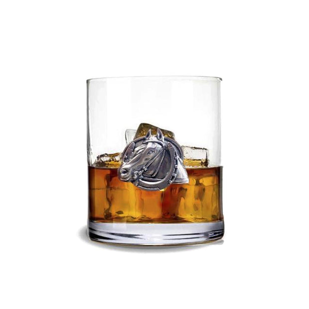 Vagabond House Equestrian Horseshoe DBL Old Fashioned Whiskey Glass - H407-EH - Jashanmal Home