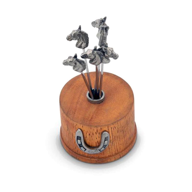 Vagabond House Equestrian Horse Cheese Pick Set - H883A - Jashanmal Home