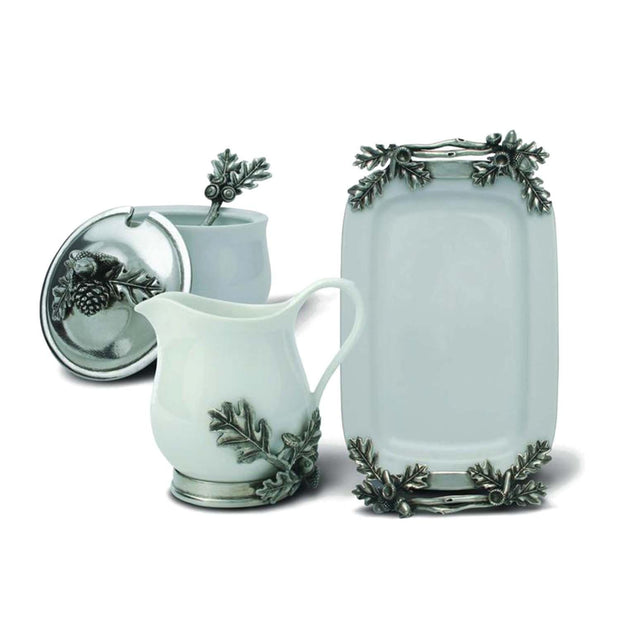 Vagabond House Majestic Forest Acorn and Oak Leaf Sugar and Creamer Set - L317 - Jashanmal Home