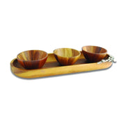 Vagabond House Olive Groves Oval Tray with Bowls Set - O224O - Jashanmal Home