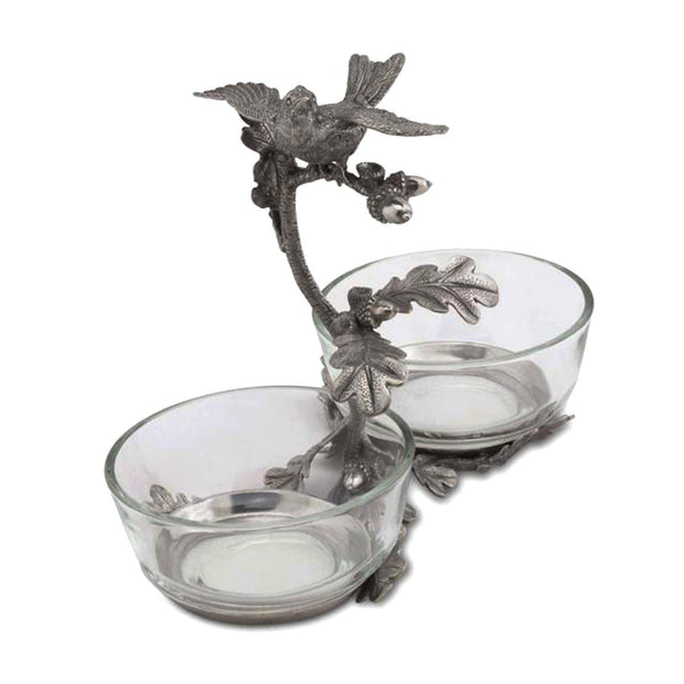 Vagabond House Song Bird Double Condiment Bowl - K415S - Jashanmal Home
