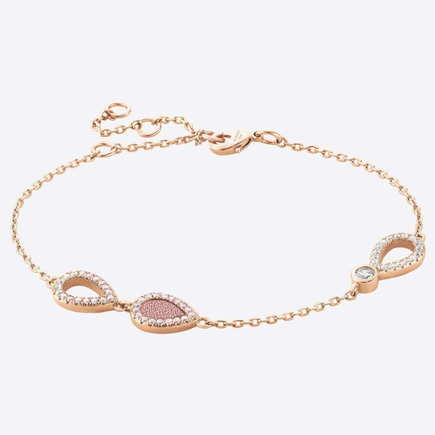ZEADES Larmes Women's Bracelet - French Rose and Rose Gold - SBC01044 - Jashanmal Home