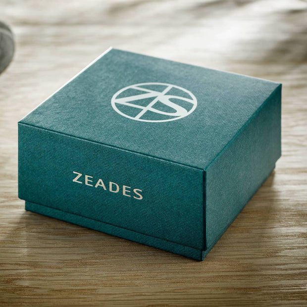 ZEADES Damier ZS 4S Men's Bracelet - Abyss Blue and Silver, Medium - ZMB02579 - Jashanmal Home