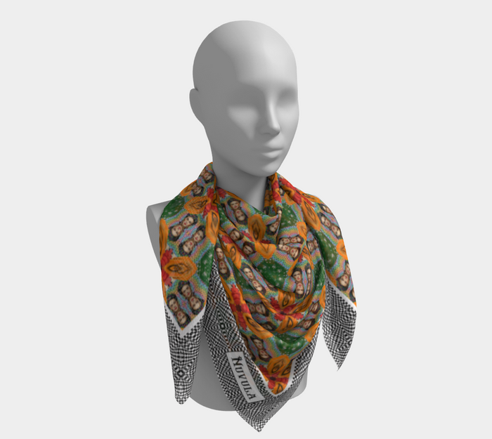 A-U-030 - SCARF FRIDA ORANGE