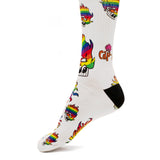 Copy of CAP-AN-TAP™ Limited Edition Rainbow on White Compression Socks