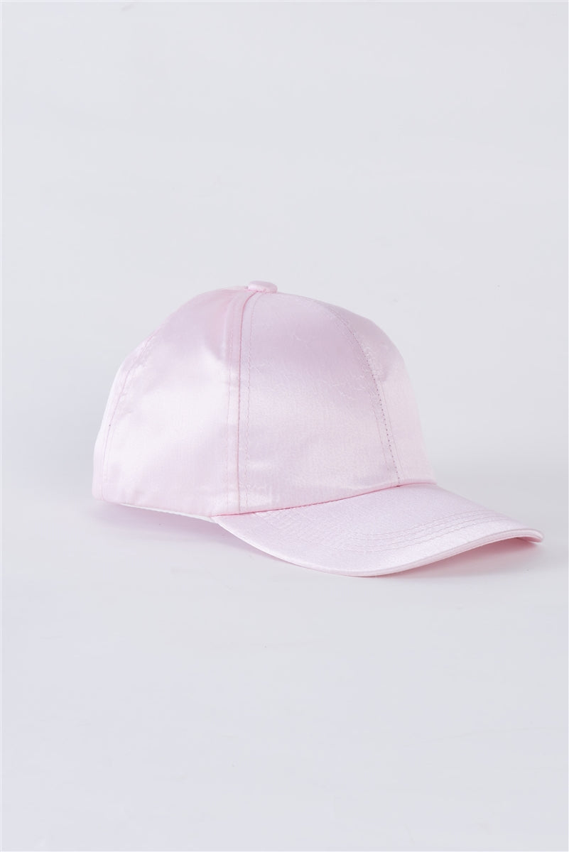 Light Pink Satin Baseball Cap