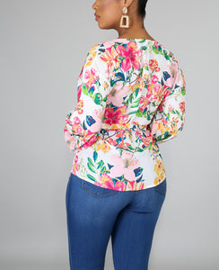 Blooming Wrap Blouse