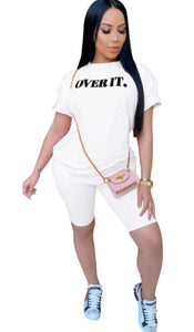 SO OVER IT T-SHIRT -  WHITE