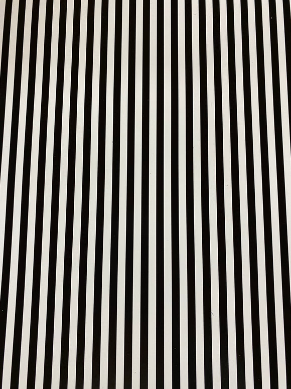 Black and White Stripe Printed HTV