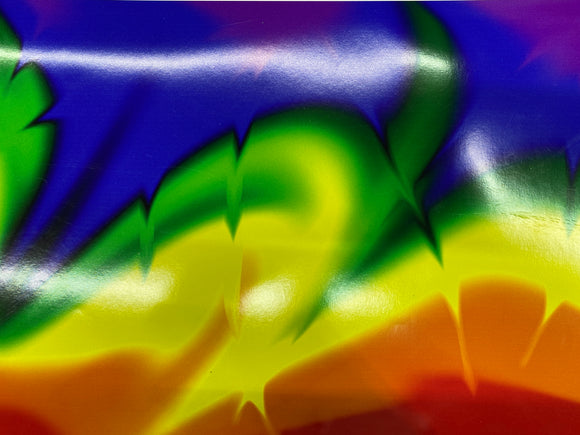 Twisted Rainbow Permanent Adhesive Printed Vinyl