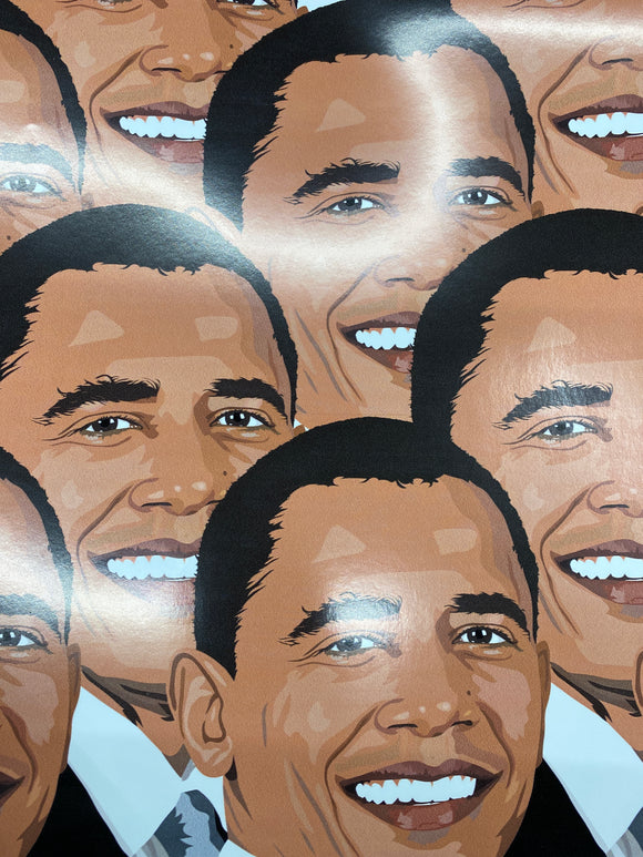 Obama Permanent Adhesive Printed Vinyl