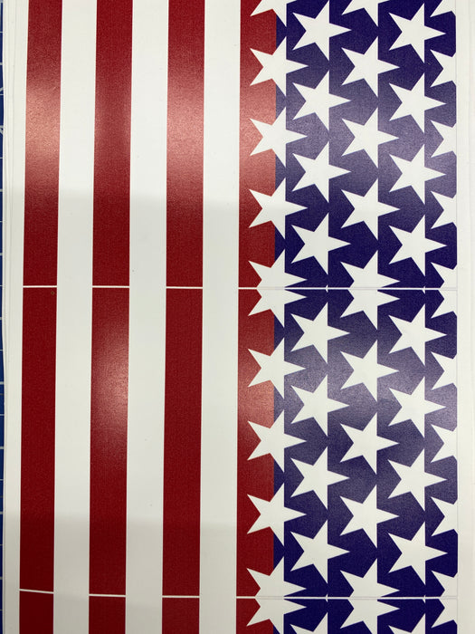 Small Section American Flag Printed HTV
