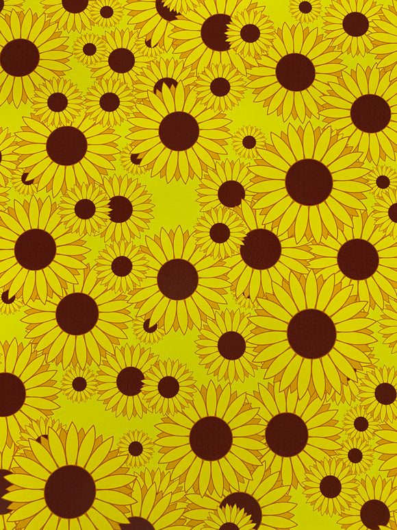 Sunflower Printed HTV
