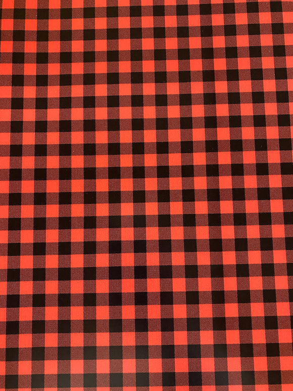 Red and Black Plaid Printed HTV