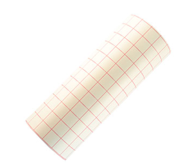 Transfer Tape Paper Red Grid Roll