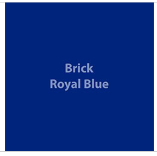 Royal Blue Brick 600 HTV
