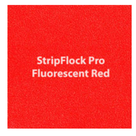 Flor. Red StripFlock HTV