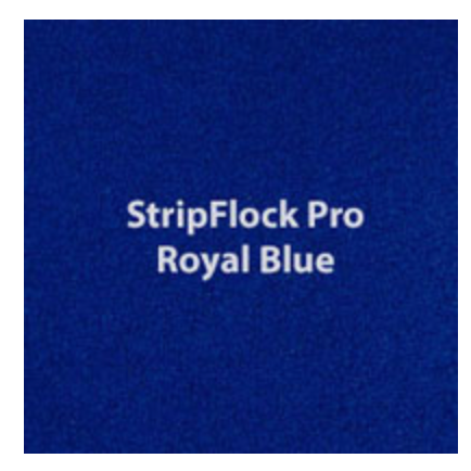 Royal Blue StripFlock HTV