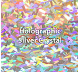 Silver Crystal Holographic HTV