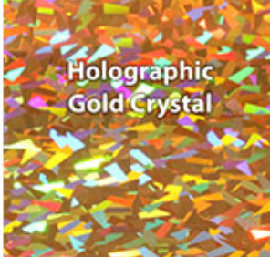 Gold Crystal Holographic