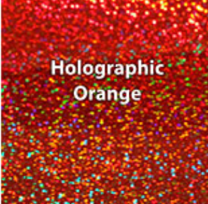 Orange Holographic HTV