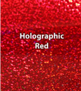 Red Holographic HTV