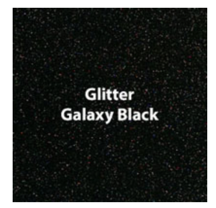 Galaxy Black Glitter HTV