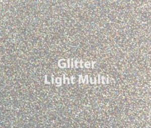 Light Multi Glitter HTV