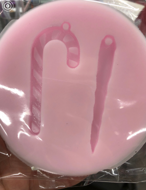 Candy Cane / Icicle Key Chain Silicone Mold
