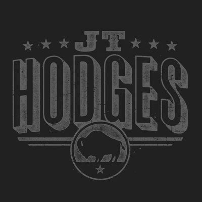 Black JT Hodges Logo Crew T-Shirt