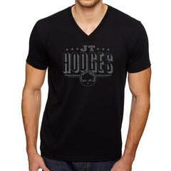 JT Hodges Black V-Neck Logo Tee
