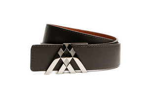 Tan Croc & Brown Smooth Leather Pavilion Belt