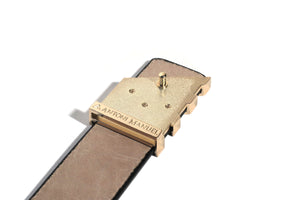Black Soft Leather Pavilion Belt