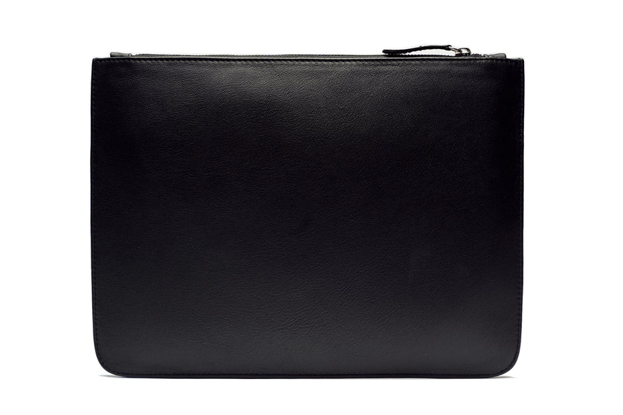 Black Smooth Leather Pouch Holder - PRE-ORDER