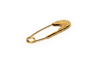 Gold Royal Safety Pin Brooch - Antoni Manuel