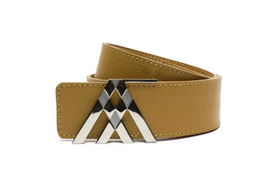 Tan Grain Leather Pavilion Belt